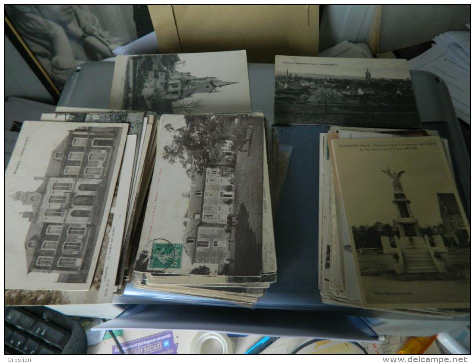 LOT DE 210 CARTES POSTALES ANCIENNES ET PETITES SEMI MODERNES DE L'AISNE (02)   1 - 100 - 499 Cartes