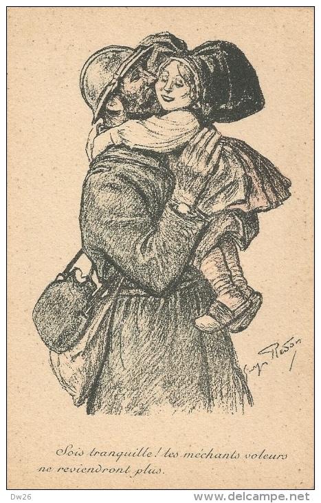 Illustration De Georges Redon - Sois Tranquille! Les Méchants Voleurs Ne Reviendrons Plus - Patriottisch