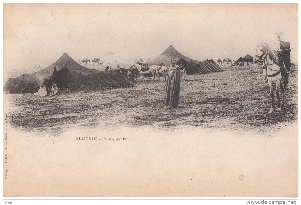 CPA ALGERIE CAMP ARABE - Scenes