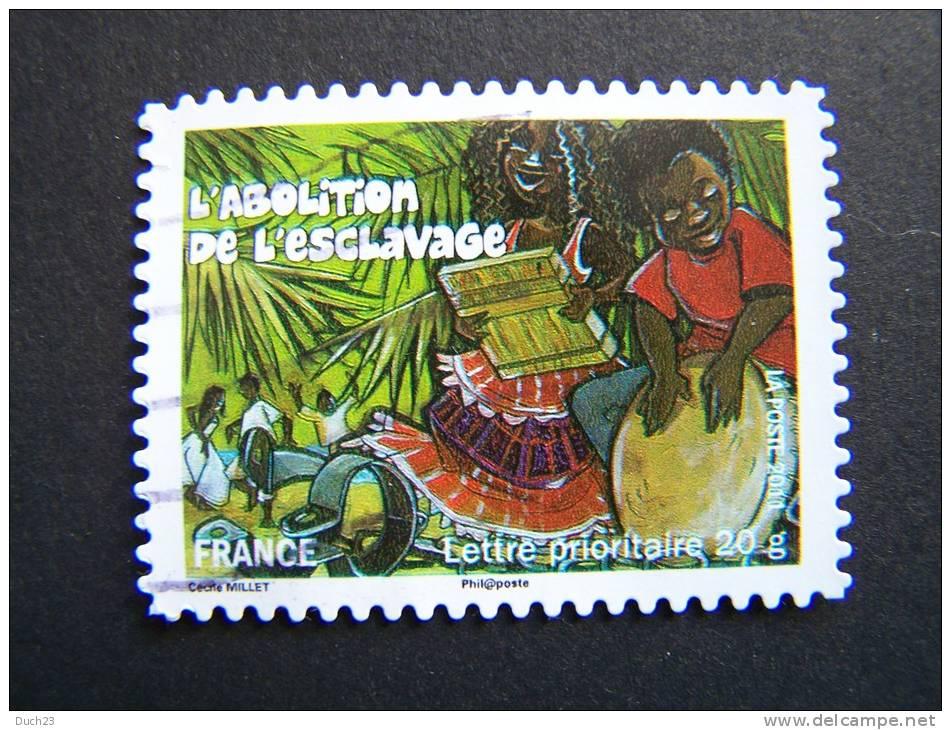 OBLITERE FRANCE ANNEE 2011 N°588 FETES ET TRADITIONS DE NOS REGIONS ABOLITION DE L´ESCLAVAGE A LA REUNION - France
