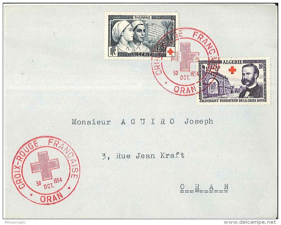 Enveloppe Algérie - Croix Rouge Française - Oran 1954 - Algeria (1924-1962)