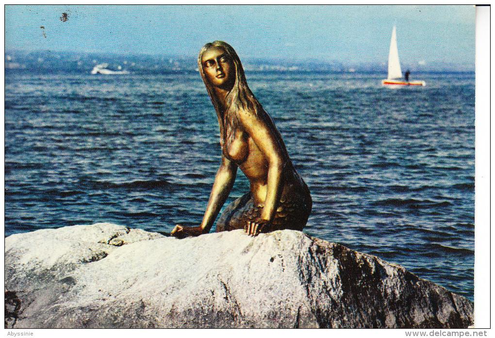 D23 1188 - SUISSE - GENEVE - La Sirène Du Léman (bronze De Natascha De Senger) (collonges Bellerive) - GE Genève