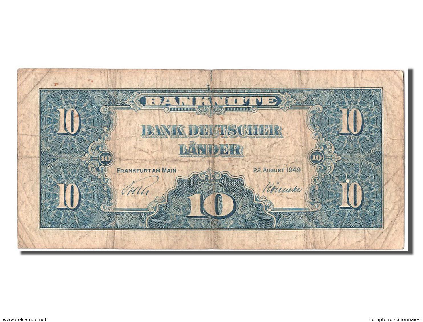 [#302895] Allemagne, 10 Deutsche Marke Type 1949 - 10 Deutsche Mark