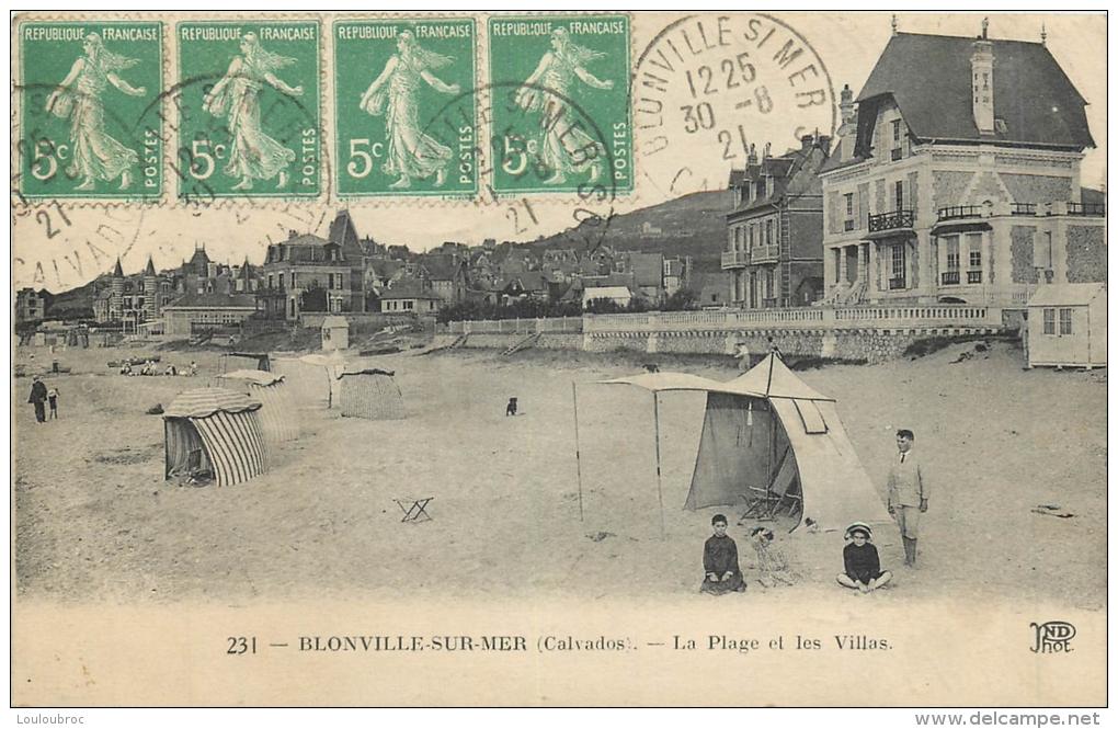 BLONVILLE SUR MER LA PLAGE ET LES VILLAS - France