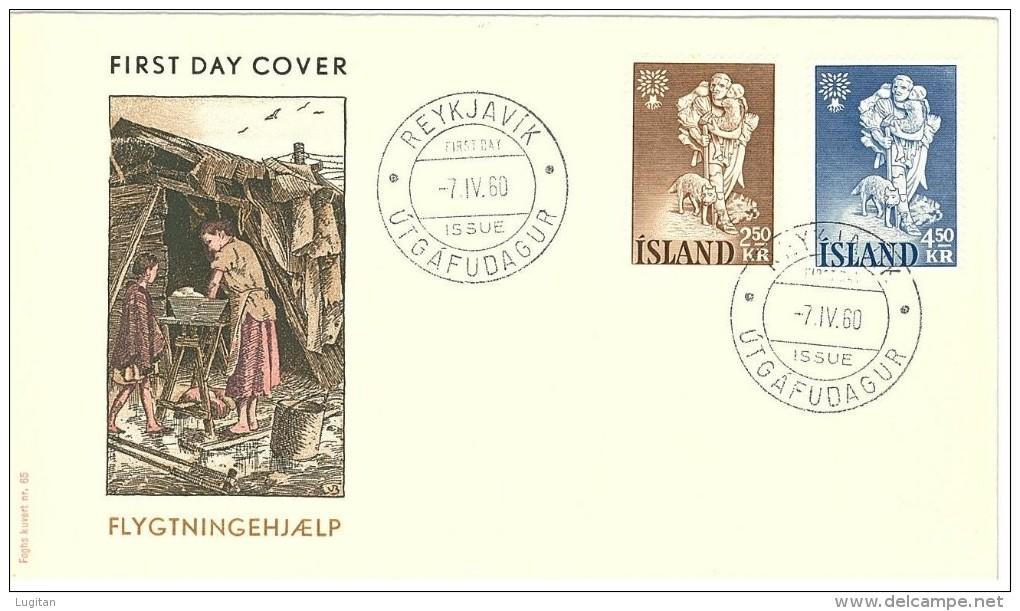 ISLANDA - ANNO 1960 World Refugee Year - FDC - ANNO DEL RIFUGIATO - FDC