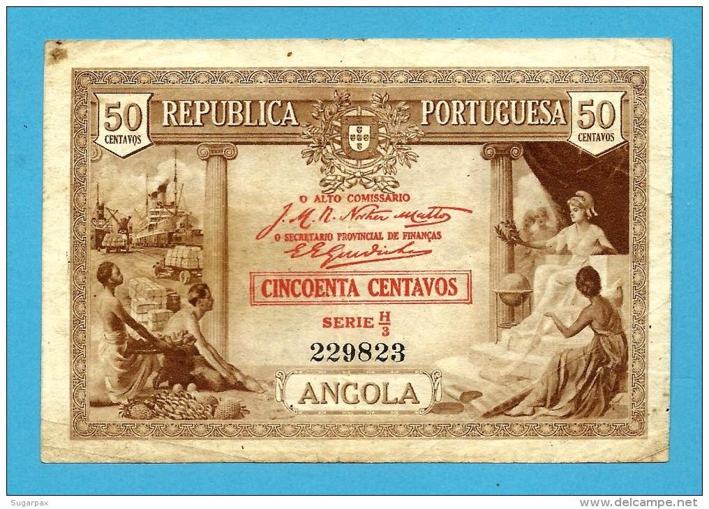 ANGOLA - A Célebre RITA - 50 CENTAVOS - 1923 - P 63 - SÉRIE H/3 - Portugal - Angola