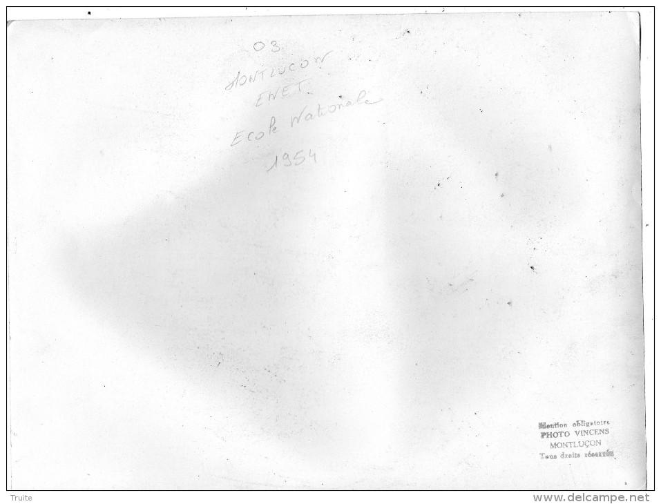 MONTLUCON CONSTRUCTION DE L´ECOLE NATIONALE ENET EN 1954 GRUE DOCUMENT GRAND FORMAT RARE 4 EME VUE - Montlucon