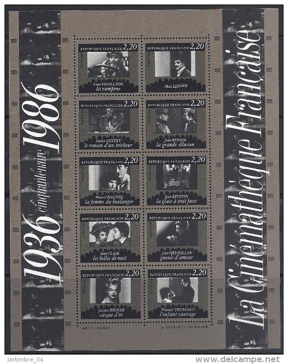 1986 FRANCE BF 9** Cinéma - Blocs & Feuillets