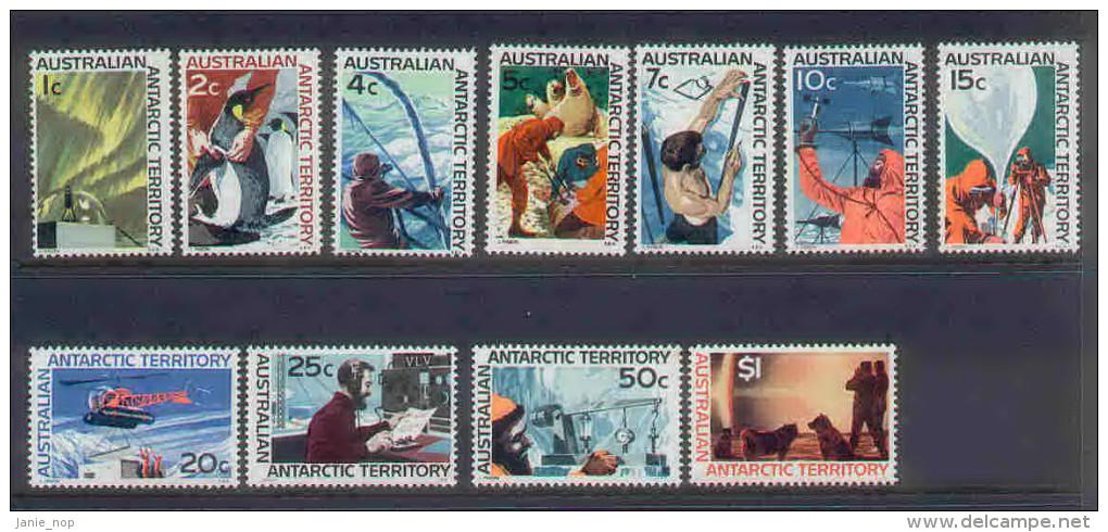 Australian Antarctic Territory 1966 Decimals Definitives Set MNH - Other