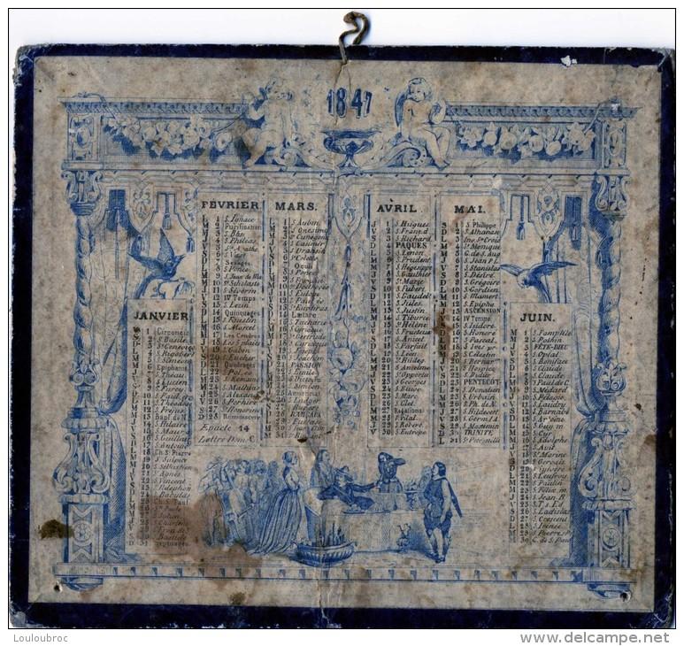 CALENDRIER DE 1847 FORMAT  17.50 X 15 CM - Calendriers