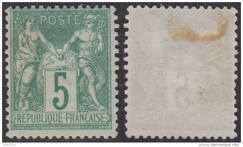 *PROMO* 5c Sage Au Type 1 (N/B) Neuf (*) TB (Y&T N° 64, Cote  *:  900€) - 1876-1878 Sage (Type I)