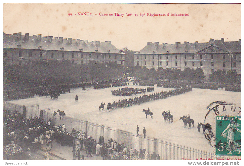 23160 France 54 Nancy - Caserne Thiry (26e Et 69e Régiments D'Infanterie) - 99 Mag Reunis -cavalerie Chevaux - Régiments