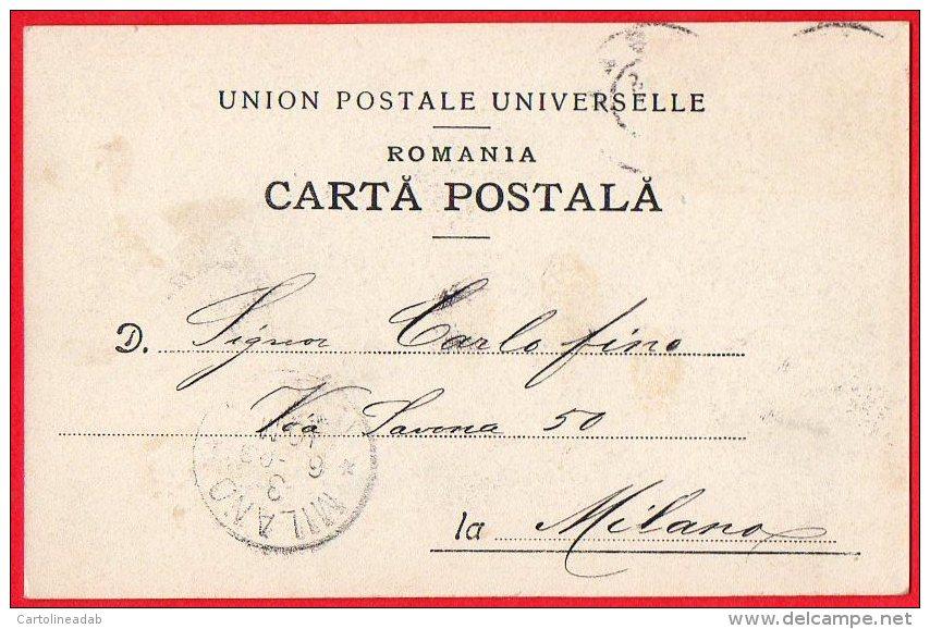 [DC6175] ROMANIA - JASI - INTERIORUL UNIVERSITATEI - Viaggiata 1903 - Old Postcard - Romania