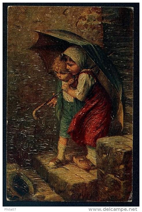 Kaulbach, H. - Vom Regen In Die Traufe  ------- Relief Postcard, Not  Traveled - Kaulbach, Hermann