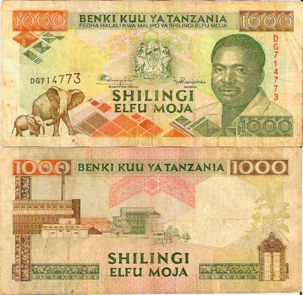 TANZANIE 1000 Shilingi (1993)  P.27c  TTB+ - Tanzanie