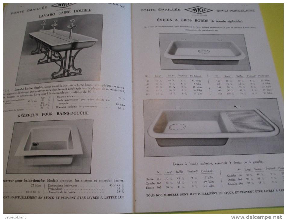 Appareils Sanitaires/ Compagnie Anglaise/The Paris Earthenware C° Ltd/INVICTA/1930        CAT52 - Catalogues