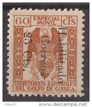 GUI259E-L4130TO.Guinee .GUINEA ESPAÑOLA.FISCALES .1939/41.(Ed  259E)sin Goma.RARO.MAGNIFICO - Otros