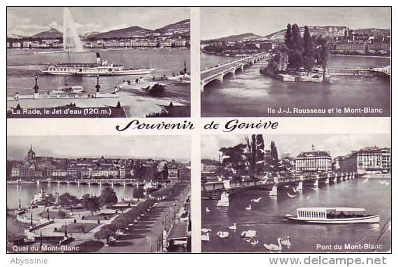 SUISSE - GENEVE - Multi Vues - Nr 6075 Jaeger à Genève - D9 719 - GE Genève