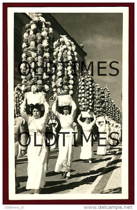 TOMAR - FESTA DOS TABULEIROS - PROVA DE EDITOR DE POSTAIS - 1950 REAL PHOTO PC - Santarem