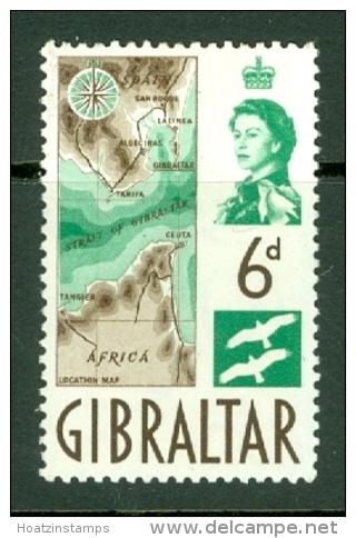 Gibraltar: 1960/62   QE II - Pictorial    SG166     6d        MH - Gibilterra
