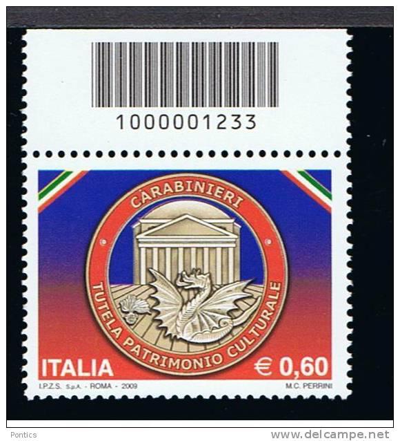 2009 - ITALY - ITALIA - ITALIE - BCB1233 - STAMP WITH BARCODE - CODICE A BARRE - TIMBRE AVEC LABS  ** - Codici A Barre