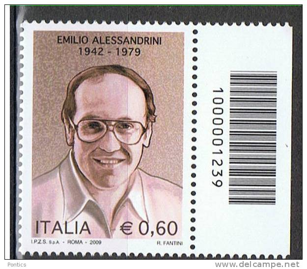 2009 - ITALY - ITALIA - ITALIE - BCB1239 - STAMP WITH BARCODE - CODICE A BARRE - TIMBRE AVEC LABS  ** - Codici A Barre