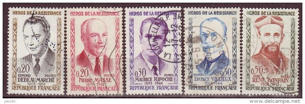 FRANCE - 1960 - YT N° 1248 / 1252 -oblitérés - Série Complète - Gebraucht