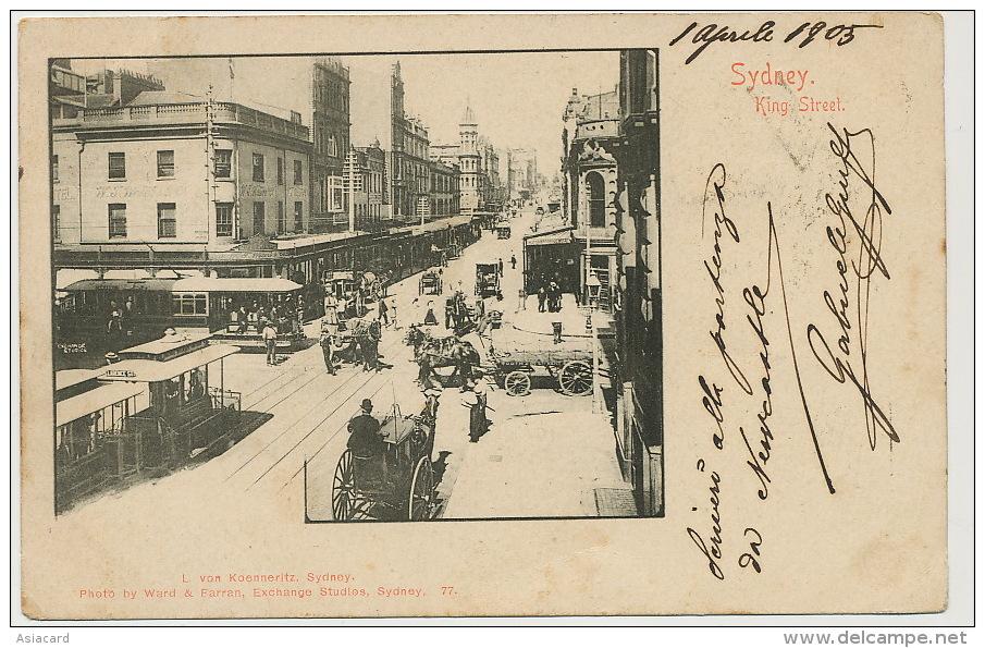 Sydney  King Street Tram Edit Von Koenneritz P. Used 1905 To Montevideo Uruguay Tax - Sydney
