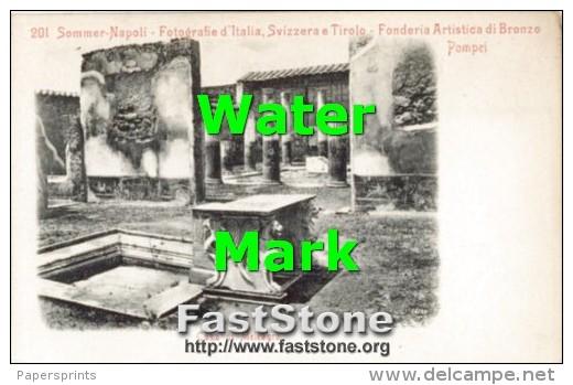 Pompei - Cartolina Antica CASA DI MELEAGRO - OTTIMA G46 - Archeologia