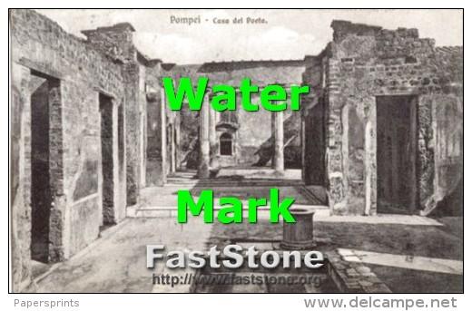 Pompei - Cartolina Antica CASA DEL POETA 1908 - G46 - Archeologia