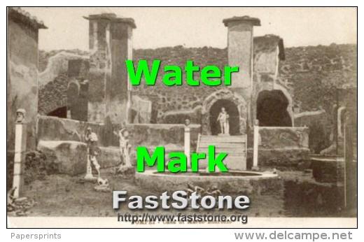 Pompei - Cartolina Antica CASA DI MARCO LUCREZIO - G46 - Archeologia