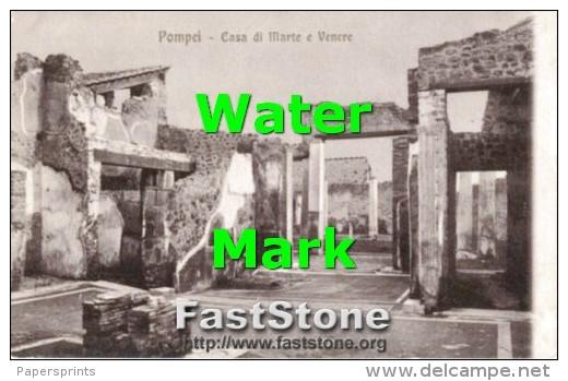 Pompei - Cartolina Antica CASA DI MARTE E VENERE - G46 - Archeologia