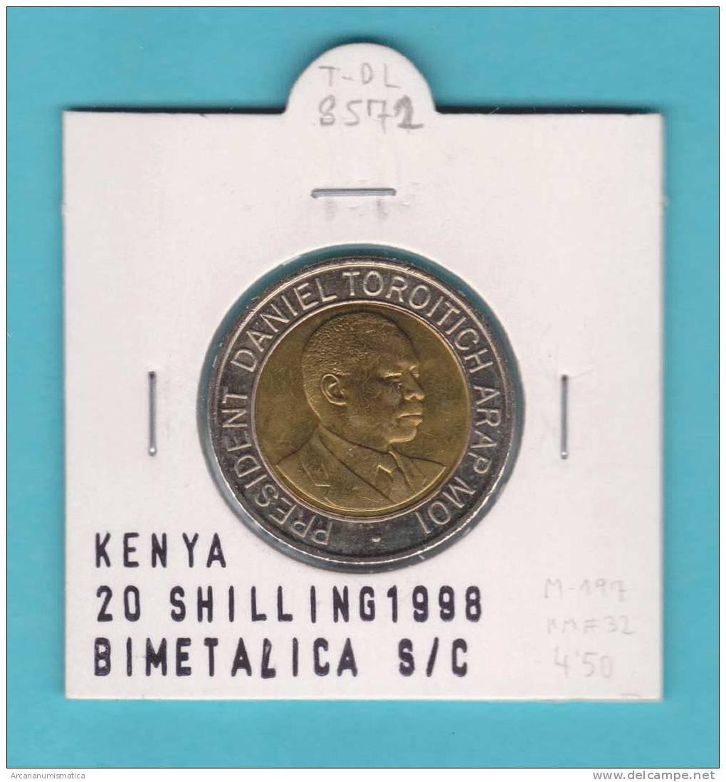 KENYA   20  SCHILLING    1.998  KM#32   BIMETALICA    SC/UNC      DL-8572 - Kenia