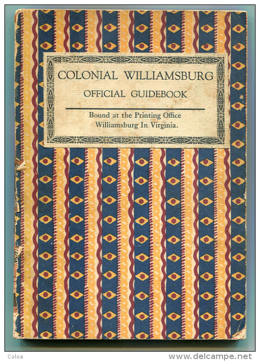 Virginia Colonial Williamsburg Official Guidebook 1965 - 1950-Maintenant