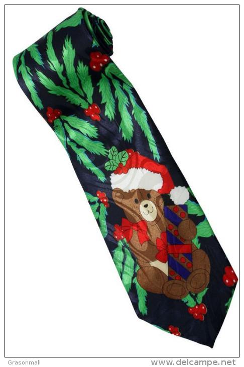 Christmas Santa Claus Xmas #30 Bear Gift Silk Cartoon Novelty Fancy NECK TIE - Other