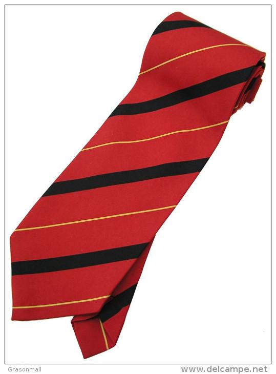 Red Yellow Black Striped Men Formal Fashion SILK NECK TIE - Other