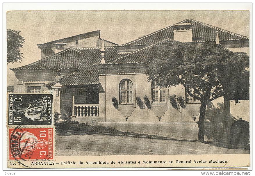 Abrantes No 3 Edifiçao Da Assembleia De A. E Monumento Ao General Avelar Machado - Autres