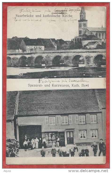 67 - HERBITZHEIM  - Brücke - Katholische Kirche - Sperezei Und Kurzwaren Kath. BOVI - Non Classificati