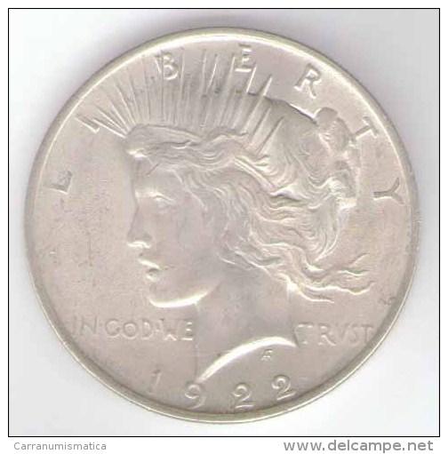 STATI UNITI ONE DOLLAR 1922 AG SILVER - Emissioni Federali