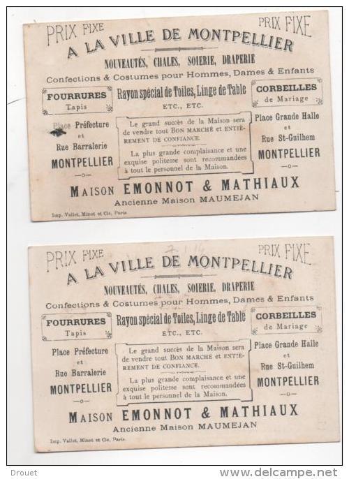 MONTPELLIER -  A LA VILLE DE MONTPELLIER - MAISON EMMONOT & MATHIAUX - 2 CHROMOS DONT PARTIE D´ECHECS - Andere