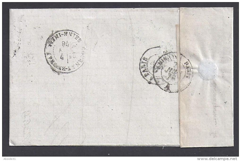 NORD - Cachet De FRESNES Sur Lettre Avec 15 C Type Sage - Storia Postale