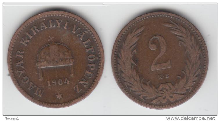 **** HONGRIE - HUNGARY - 2 FILLER 1904 KB **** EN ACHAT IMMEDIAT !!! - Hongrie