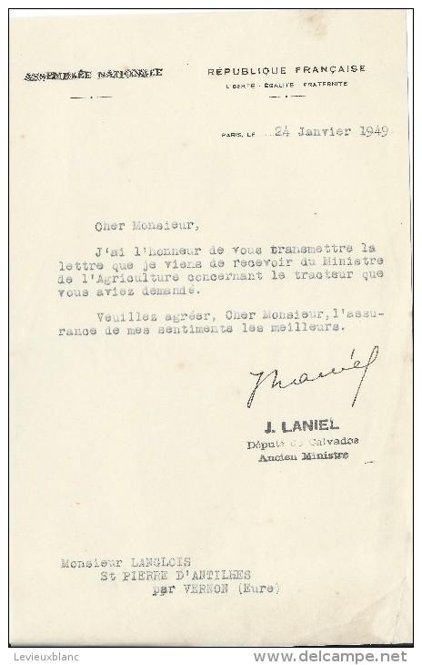 Tracteurs/Agriculture/Cou Rrier  D´intervention/Obtention Tracteur/Assemblée Nationale/ Laniel Député/1949   AC68 - Traktoren