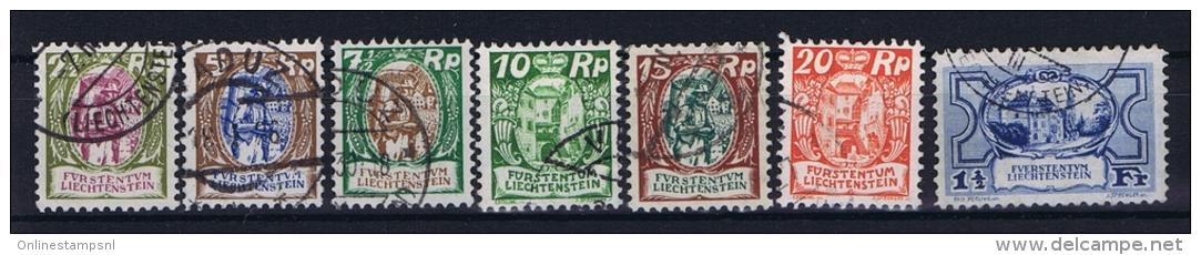 Liechtenstein: Mi  65 - 71 Used - Used Stamps