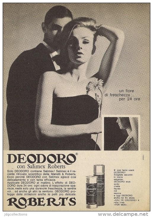 # DEODORO MANETTI & ROBERTS Florence 1960s Advert Pubblicità Publicitè Reklame Firenze Deodorant Desodorant Cosmetics - Unclassified