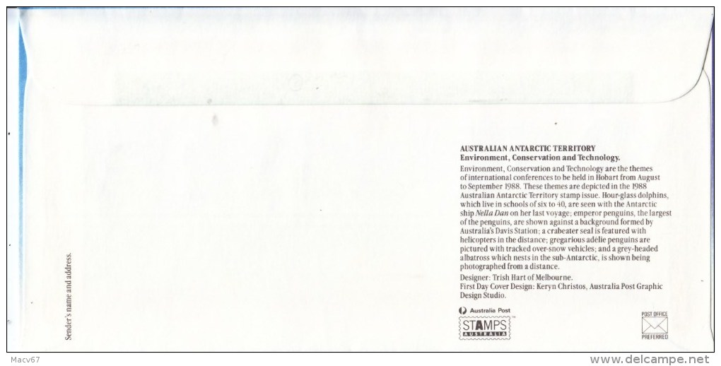 AAT  ANTARCTIC  PENGUINS   FDC - Antarctic Wildlife