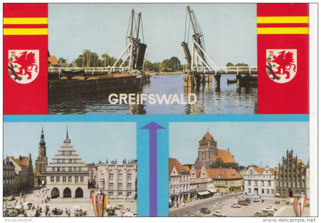 BT19656 Greifswald  Multi Views   Germany   Scan Front/back Image - Greifswald