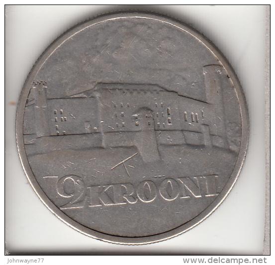 ESTONIA 1930 -  2 KROONI ARGENTO - Estland