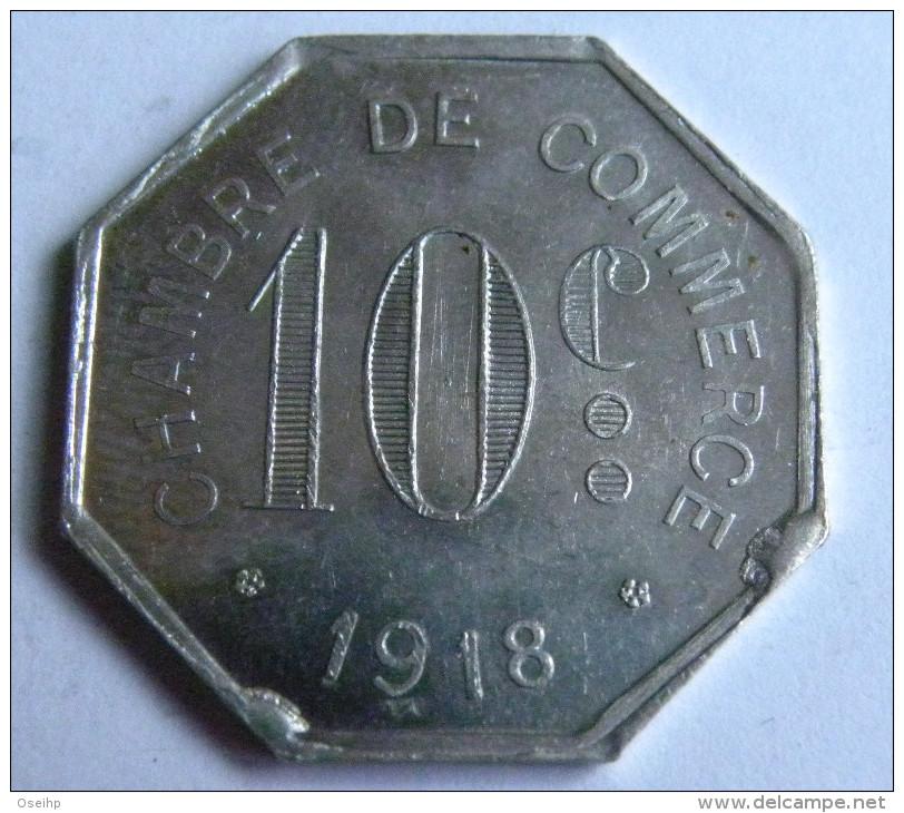 Jeton Monnaie De Nécessité Chambre De Commerce 1918  10c ROUEN - J. Bory - Monétaires / De Nécessité