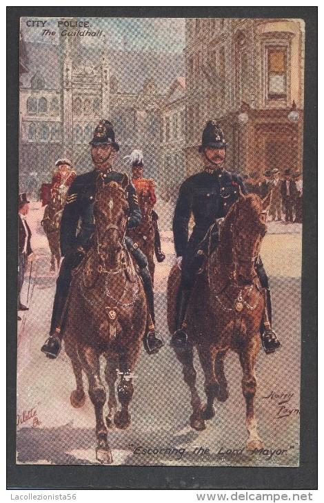 6417-CITY POLICE-THE GUILDHALL-LONDON-1911-FP - Police - Gendarmerie